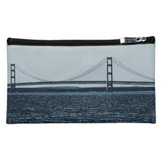 Mackinac Bridge Art Makeup Bag