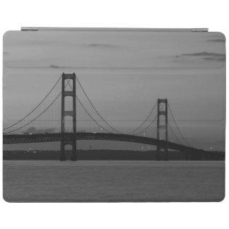 Mackinac Bridge At Dusk Grayscale iPad Smart Cover