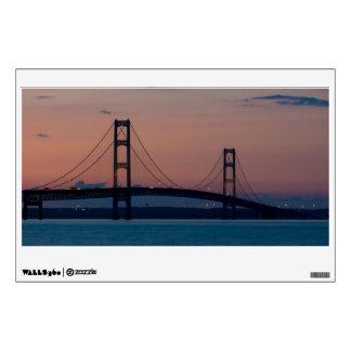 Mackinac Bridge At Dusk Wall Sticker