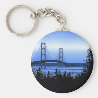 Mackinac Bridge Basic Round Button Keychain