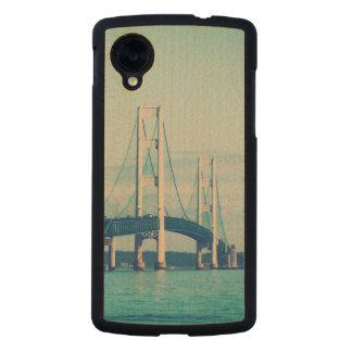 Mackinac Bridge Carved® Maple Nexus 5 Case