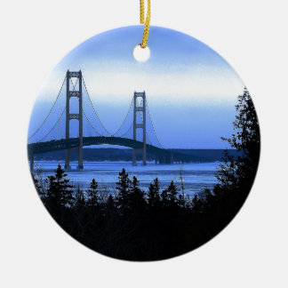 Mackinac Bridge Ceramic Ornament