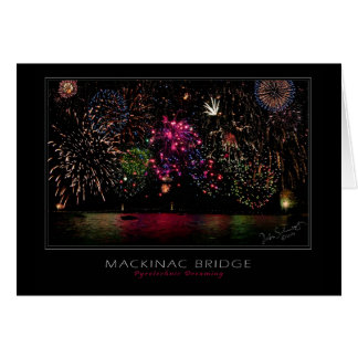 Mackinac Bridge Fireworks Card