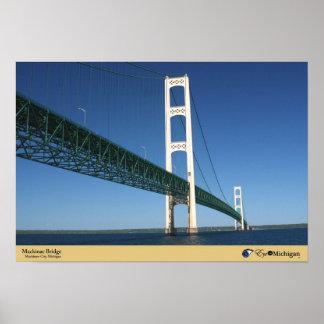 Mackinac Bridge from The Straits - Mackinaw City,  Poster