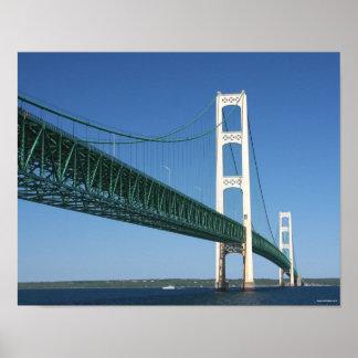 Mackinac Bridge from the Straits Poster