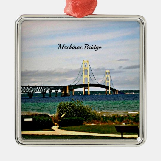 Mackinac Bridge, Mackinac Island Metal Ornament