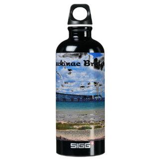 Mackinac Bridge Michigan Aluminum Water Bottle