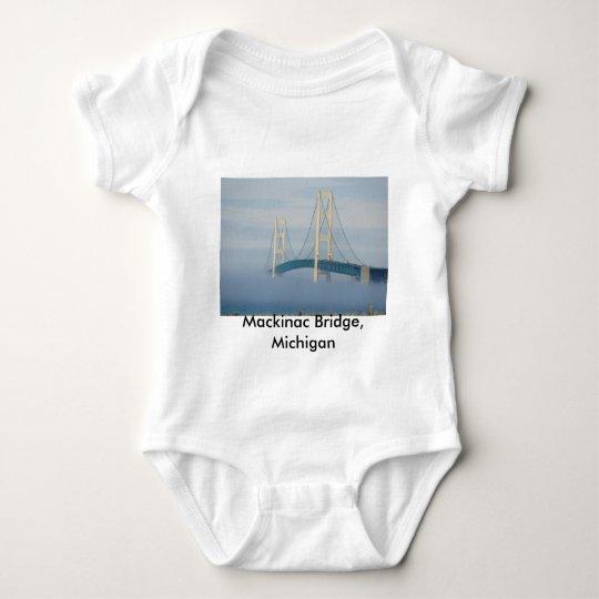 Mackinac Bridge, Michigan Baby Bodysuit