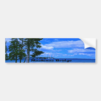 Mackinac Bridge Michigan Bumper Sticker