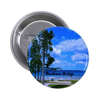 Mackinac Bridge Michigan Button