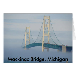 Mackinac Bridge, Michigan Card