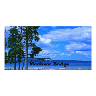 Mackinac Bridge Michigan Card