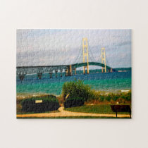 Mackinac Bridge Michigan. Jigsaw Puzzle