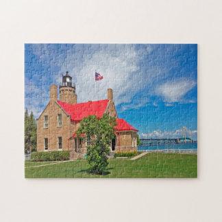 Mackinac Bridge Michigan. Jigsaw Puzzle