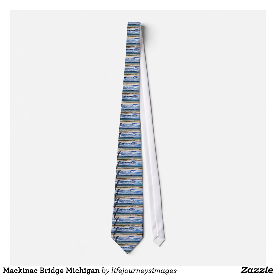 Mackinac Bridge Michigan Neck Tie