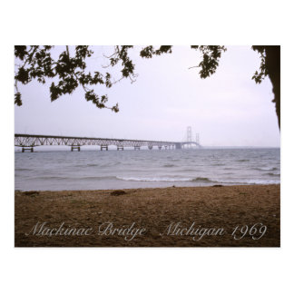 Mackinac Bridge Michigan Postcard