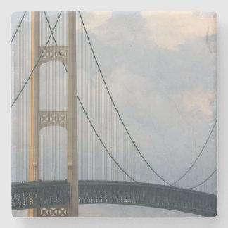 Mackinac Bridge, Michigan, USA Stone Beverage Coaster