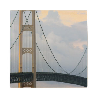 Mackinac Bridge, Michigan, USA Maple Wood Coaster