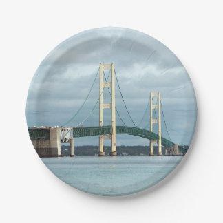 Mackinac Bridge Paper Plate