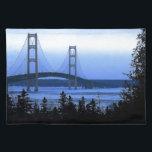 "Mackinac Bridge Placemat<br><div class=""desc"">A scenic view of the Mackinac Bridge of Michigan.</div>"