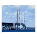 Mackinac Bridge Vector Poster