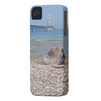 Mackinac Bridge With Rock Case-Mate iPhone 4 Case