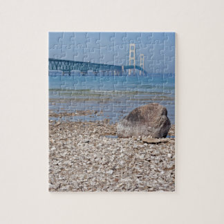 Mackinac Bridge With Rock Puzzle