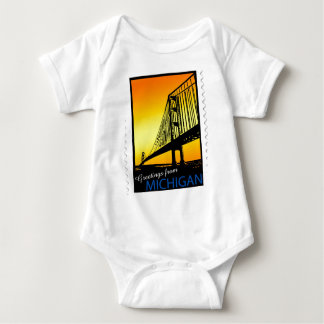 Mackinac Brige Greetings from Michigan! Baby Bodysuit