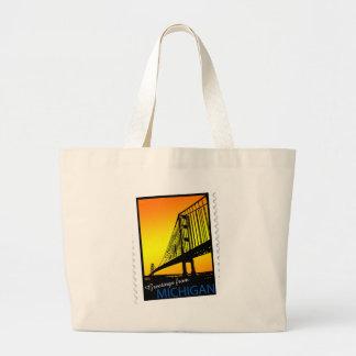 Mackinac Brige Greetings from Michigan! Bag