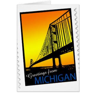 Mackinac Brige Greetings from Michigan! Card