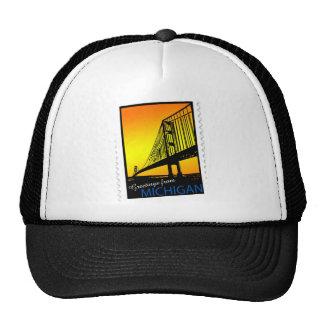 Mackinac Brige Greetings from Michigan! Trucker Hat