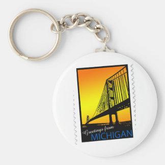 Mackinac Brige Greetings from Michigan! Key Chain