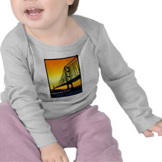 Mackinac Brige Greetings from Michigan! T Shirt