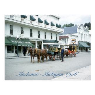 Mackinac Island 1956 Michigan Fudge Shop Postcard