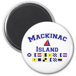 Mackinac Island 2 Inch Round Magnet