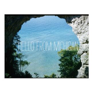 Mackinac Island Arch Rock 1956 Vintage Inspired Postcard