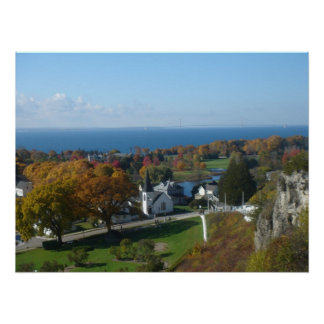 Mackinac Island Autumn Colors Poster