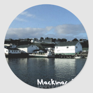 mackinac island classic round sticker