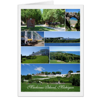 Mackinac Island Collage Card