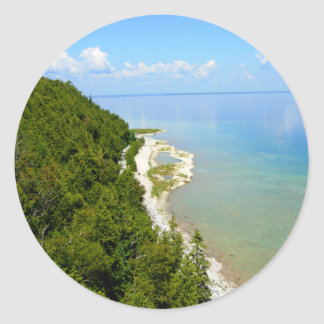 Mackinac Island Eastern Shoreline Classic Round Sticker
