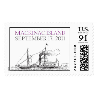 Mackinac Island Ferry Postage Stamps