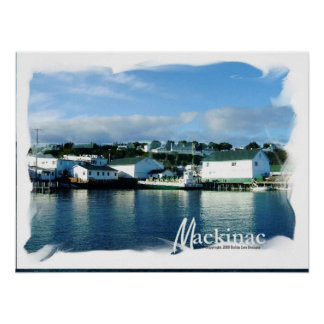 Mackinac Island From the Ferry Poster