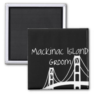Mackinac Island Groom Magnet