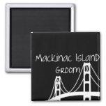 Mackinac Island Groom Refrigerator Magnets