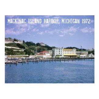 Mackinac Island Harbor Michigan Postcard