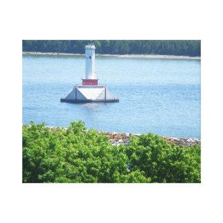 Mackinac Island Lighthouse Stretched Canvas Print