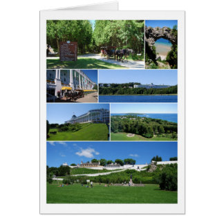 Mackinac Island Michigan Collage Card