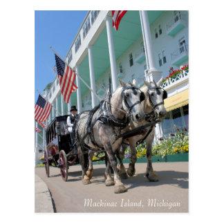 Mackinac Island, Michigan - Grand Hotel Postcard