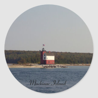 Mackinac Island Series Classic Round Sticker