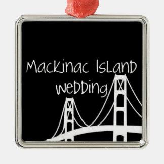 Mackinac Island Wedding Metal Ornament